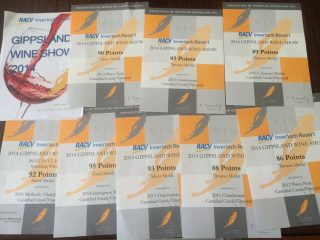 8 Awards at Gippsland Wine Show 2014