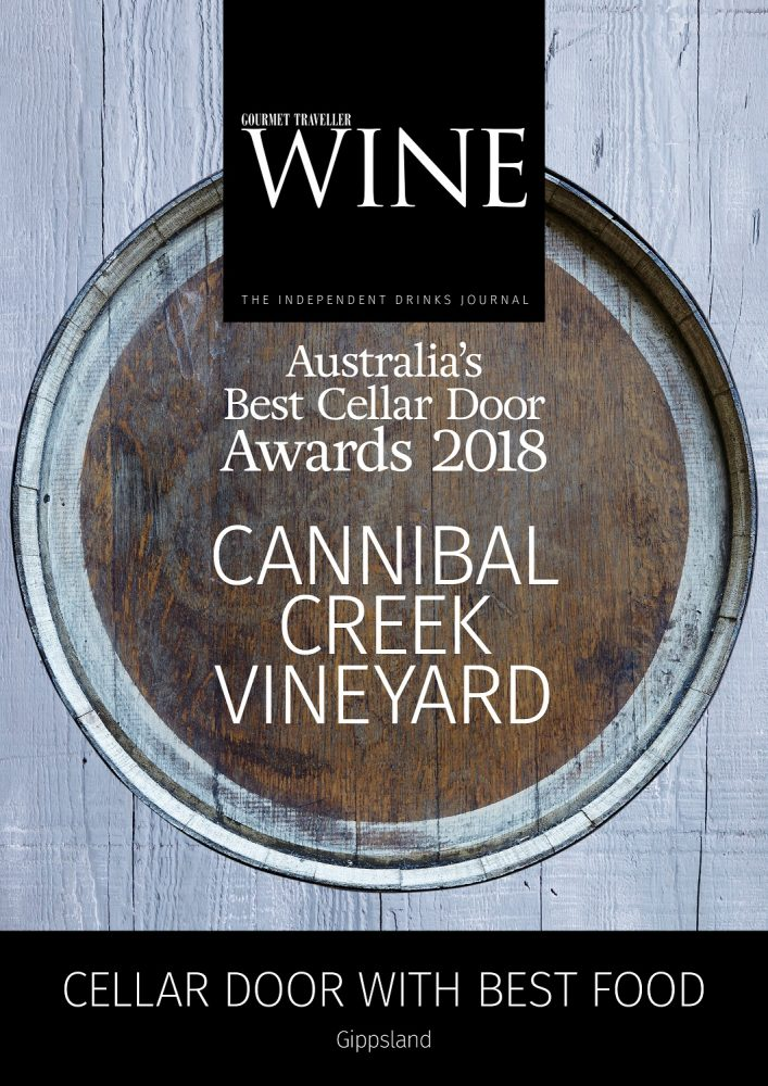 Cannibal Creek Wins in Gourmet Traveller Wine Australia's Best Cellar Door Awards 2018
